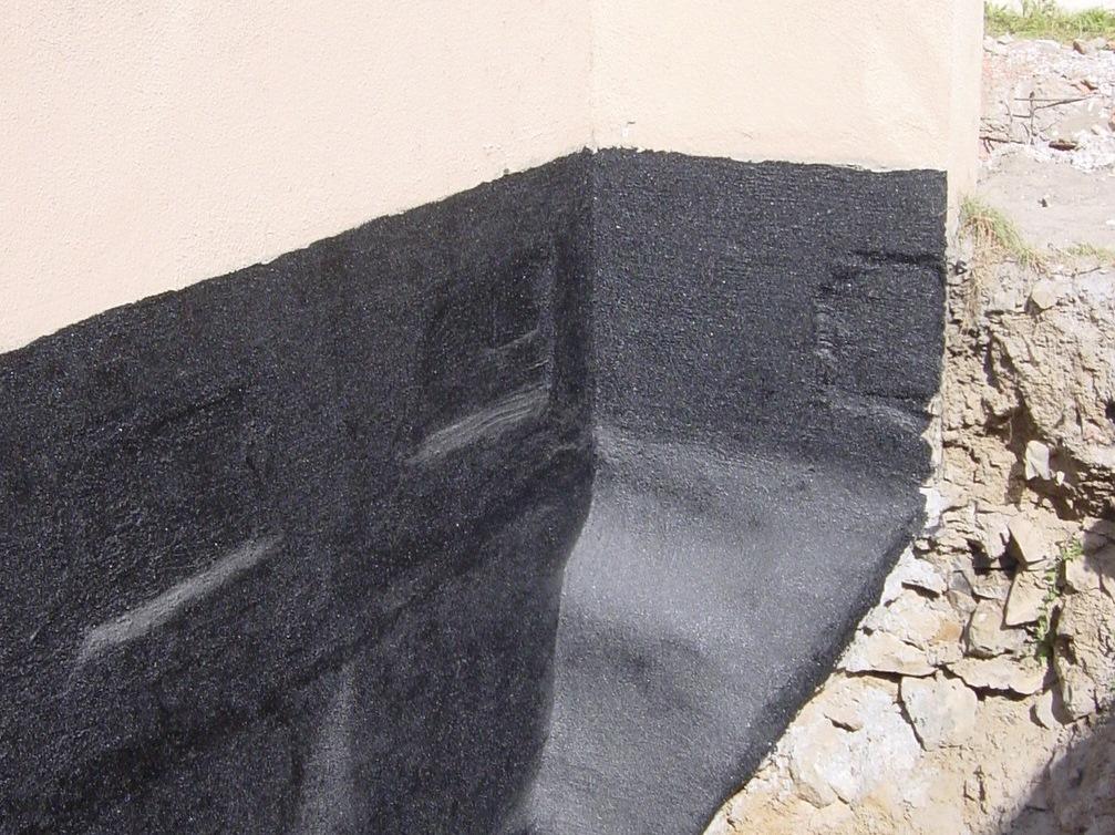Bitumeny - nerovný podklad